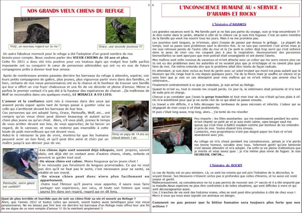 le mot de la présidente fin 2011 + bulletin fin d'année Page5-10