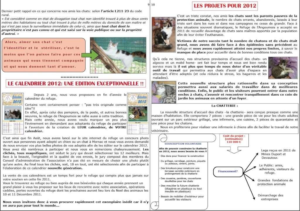 le mot de la présidente fin 2011 + bulletin fin d'année Page9-10