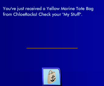 ChloeRocks is ONLINE!!!! June 2012 Gift is Yellow Marine Tote!  Ss38710