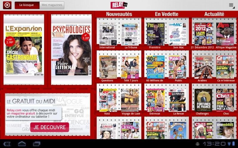 [SOFT] RELAY : le kiosque presse optimisé pour les tablettes avec plus de 400 magazines [Payant] Ss-12813