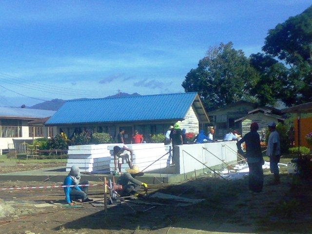 Projek pembinaan bangunan kelas 'kabin' 15052011