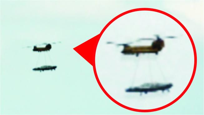 Filman Ovni transportado por helicoptero Galact13