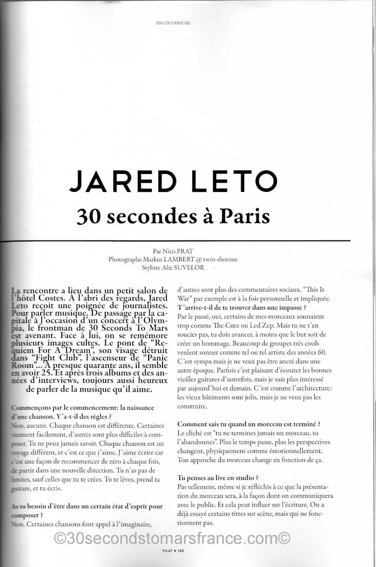 Jared Leto dans THAT Magazine - Page 2 That_m11