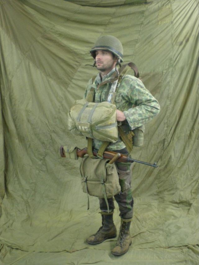 Légionnaire-parachutiste du 2ème BEP, prêt à sauter, opération Hirondelle, Lang Son (1953) P1010346