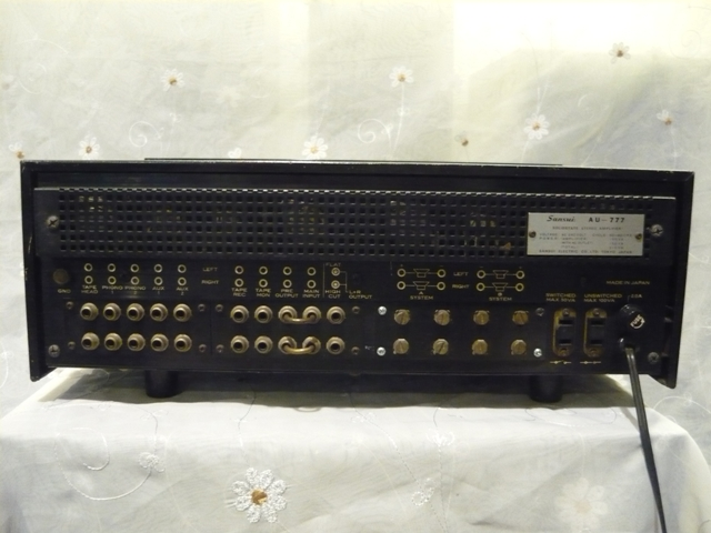 Sansui AU 777 solid state amplifier (used) SOLD P1060826