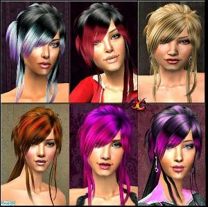 Женские прически (яркие перекраски) Djgf63