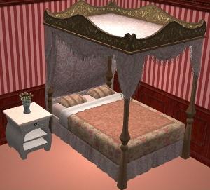 Спальни, кровати (средневековье) Dk303