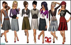 Повседневная одежда (платья, туники, комплекты с юбками) - Страница 2 Foru1145