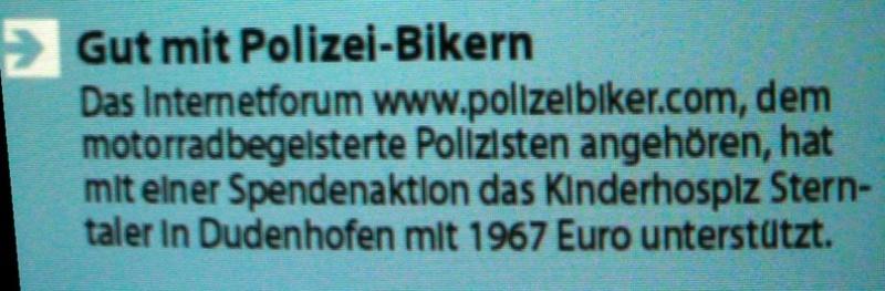 Polizeibiker helfen Helfern Bilds198