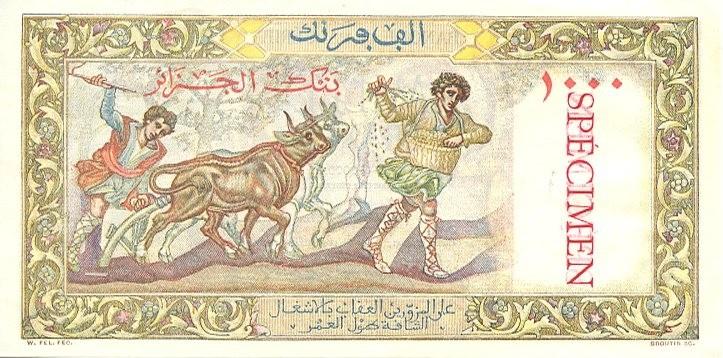 Emissions d'Algérie en billet avant 1962 Algari17