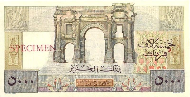 Emissions d'Algérie en billet avant 1962 Algari19