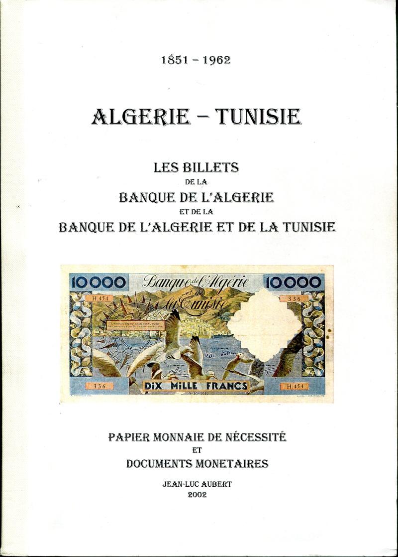 Emissions d'Algérie en billet avant 1962 Catalo10