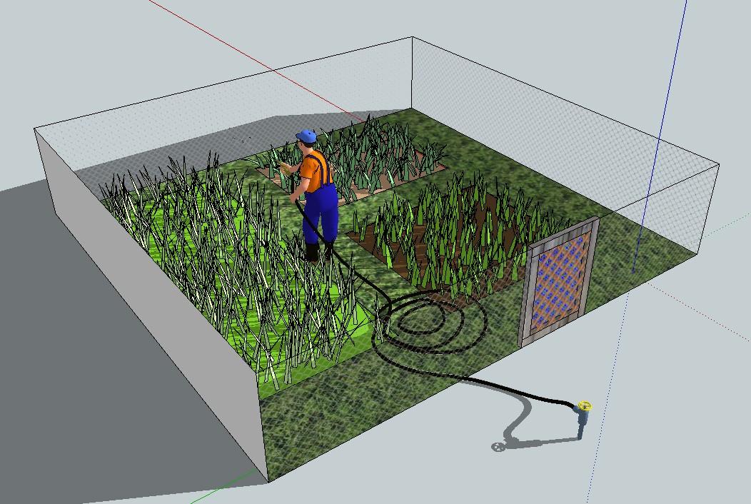 Adapter une photo - Modèle Sketchup déformé Jardin11