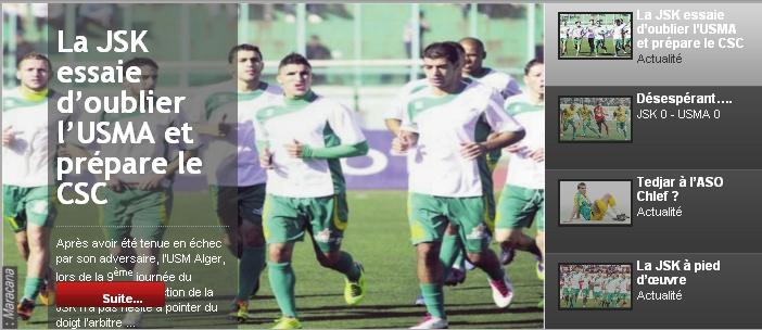 [L1, Journée 10] JS.Kabylie 1 - 0 CS.Constantine (Après match) 20111117