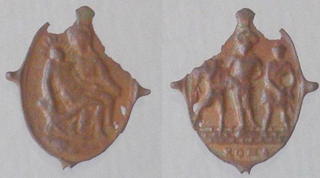 Jésus au pilori entouré de 2 gardes romains - Typique du XVIIème 17eme_12