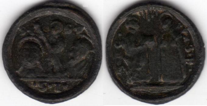micro médaille St Thérèse - Isidore le Laboureur - Philippe Néri / XVIIème  Madail14