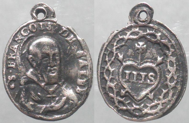 Médaille St-François-de-Sales en argent - XVIII ou XIVème (difficile à confirmer) St_f_d10