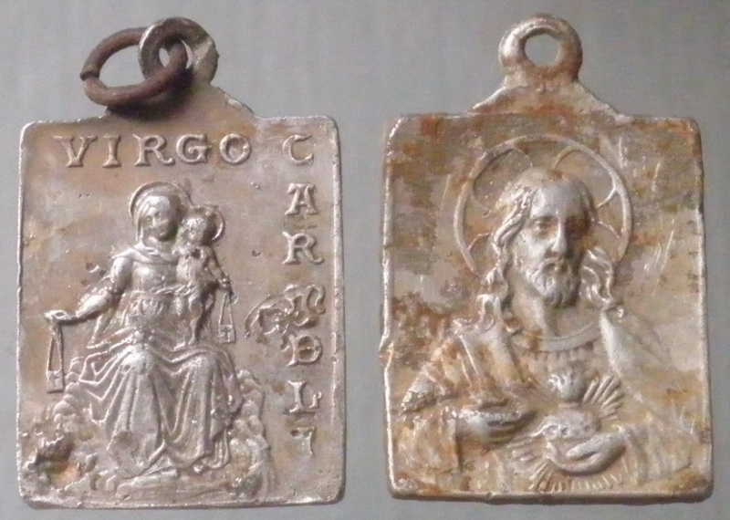 """Jolie médaille alu - """"Virgo Carmeli"""" (ND-du-Mt-Carmel) et Sacré-coeur de Jésus Virgo_10"""