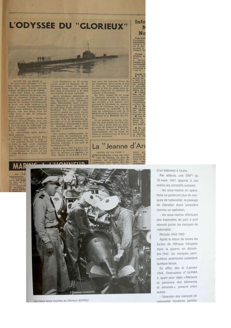 """L'Odyssée du Sous-marin """"LE GLORIEUX"""" (Cols bleus 1957) Articl11"""