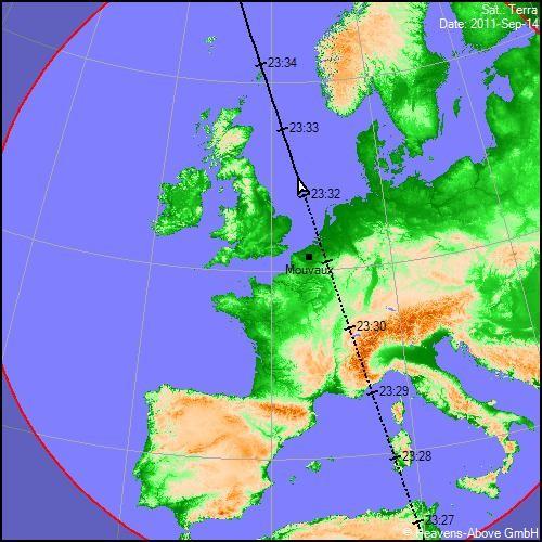 2011: le 14/09 à 23h30 - comme une etoileLumière étrange dans le ciel  - roubaix (59)  Carte_10
