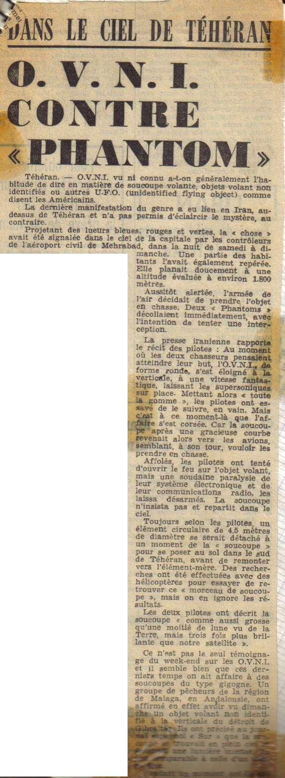 vague ovni belgique 31 mars - Téhéran septembre 1976 deux jets en présence d'un OVNI Tehera10