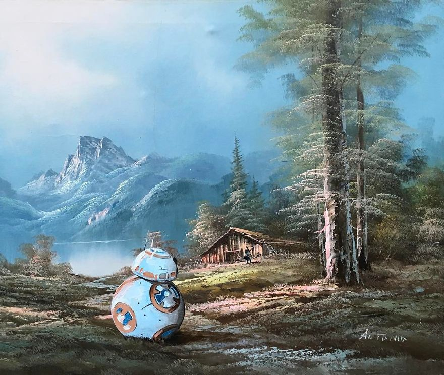 Dave Pollot : peinture celebre et pop culture Pop-cu15