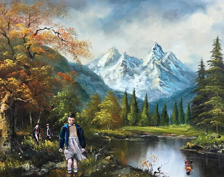 Dave Pollot : peinture celebre et pop culture Pop-cu16