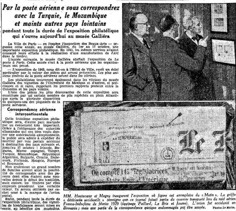 Qui connaît le Tarif postal de France vers le Mozambique en 1943 ?  19431010