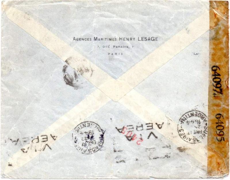 Qui connaît le Tarif postal de France vers le Mozambique en 1943 ?  1943_a16