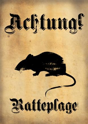 German wall scribblings, roadsigns, posters etc. Ratte11