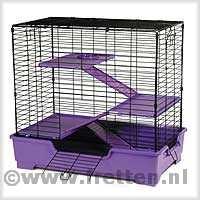 Cage Super Pet Deluxe 4 level Care Critter Home Noire/Violette B_328310