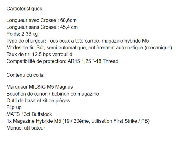 [A VENDRE] Milsig Magnus M5 (comme neuf) + accessoires Image_12