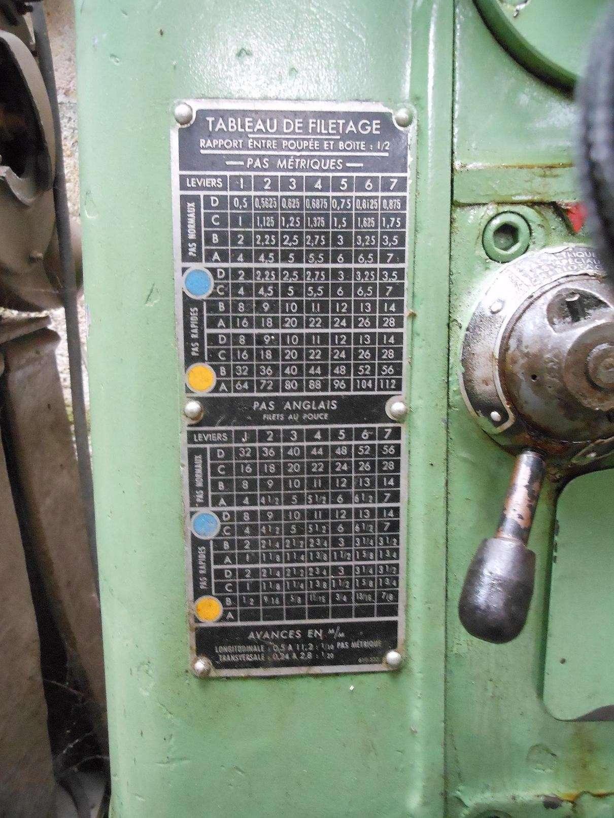 Réaliser un filetage sur un H Ernault Batignolles AC 280 Ac10