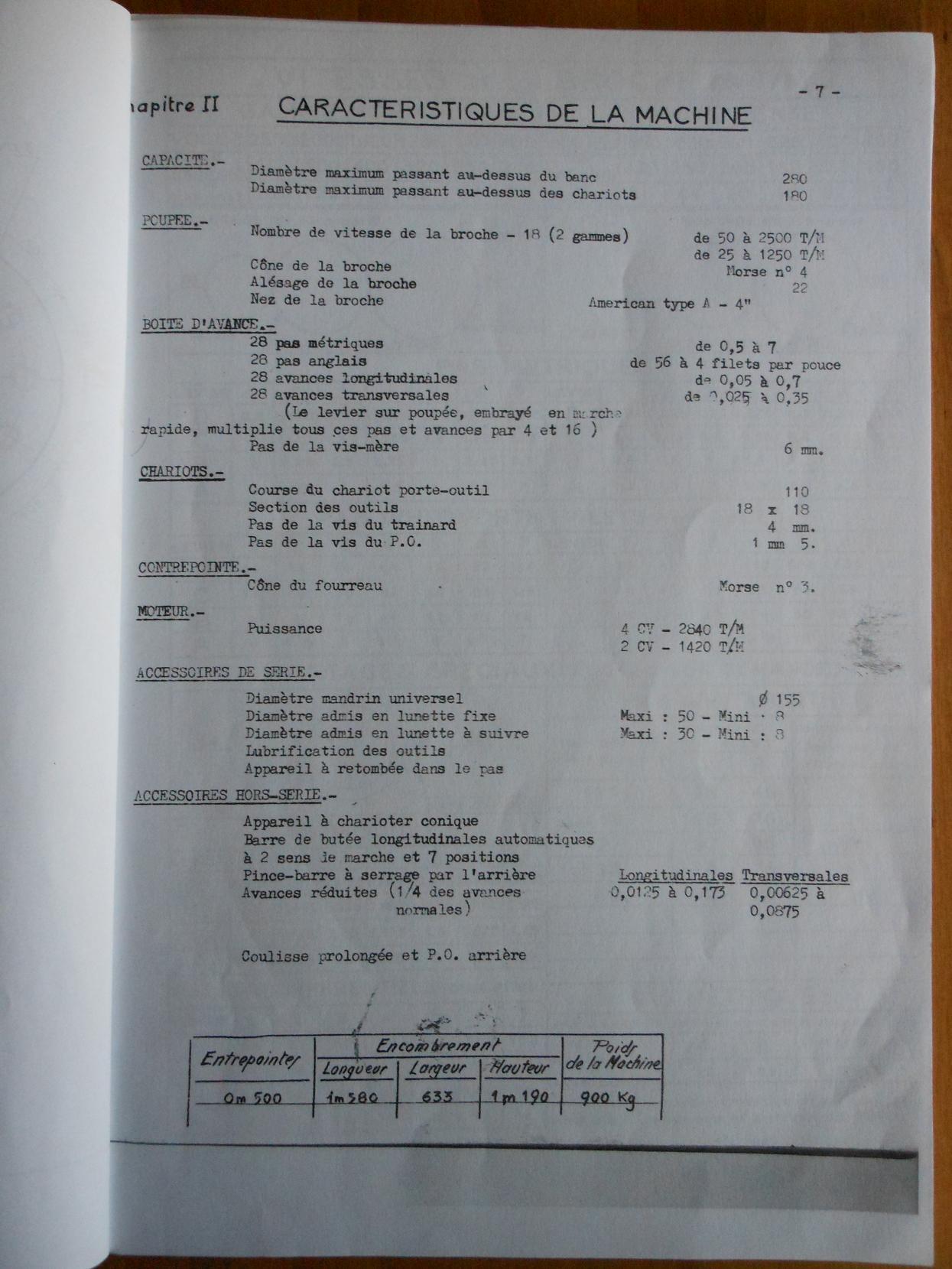Réaliser un filetage sur un H Ernault Batignolles AC 280 Acara10