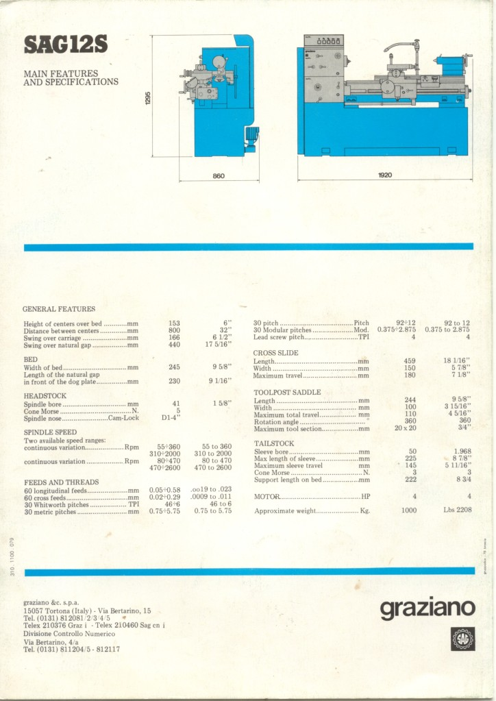 Graziano SAG 12 & 12S Graz610