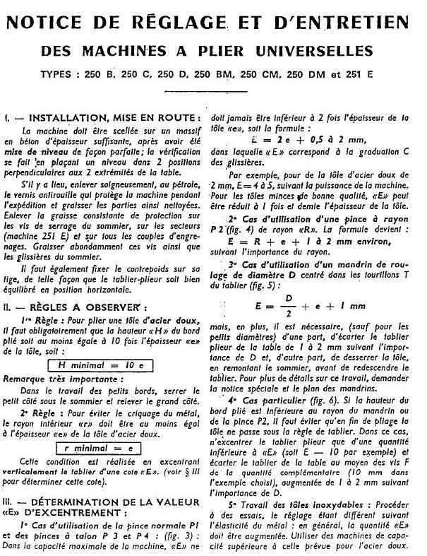 Plieuse universelle Bombled 250 Page1210