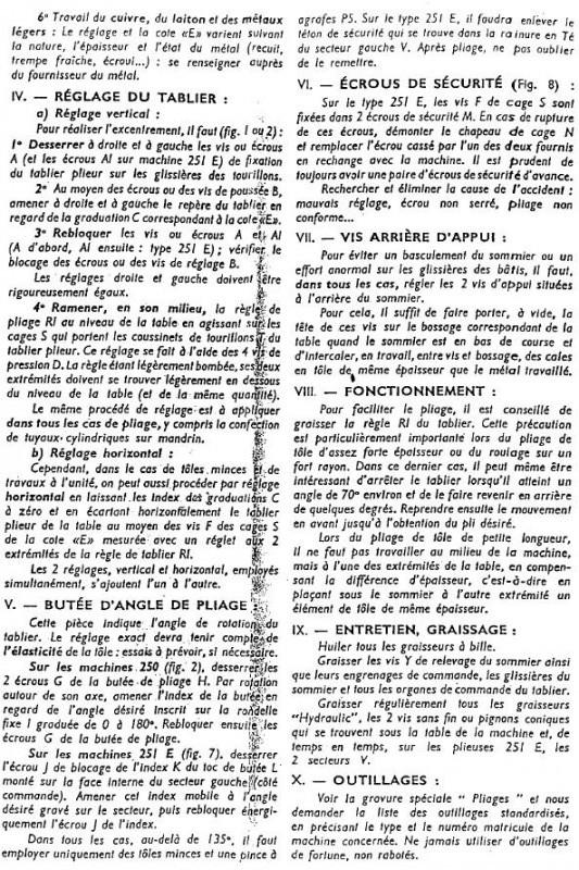 Plieuse universelle Bombled 250 Page2210