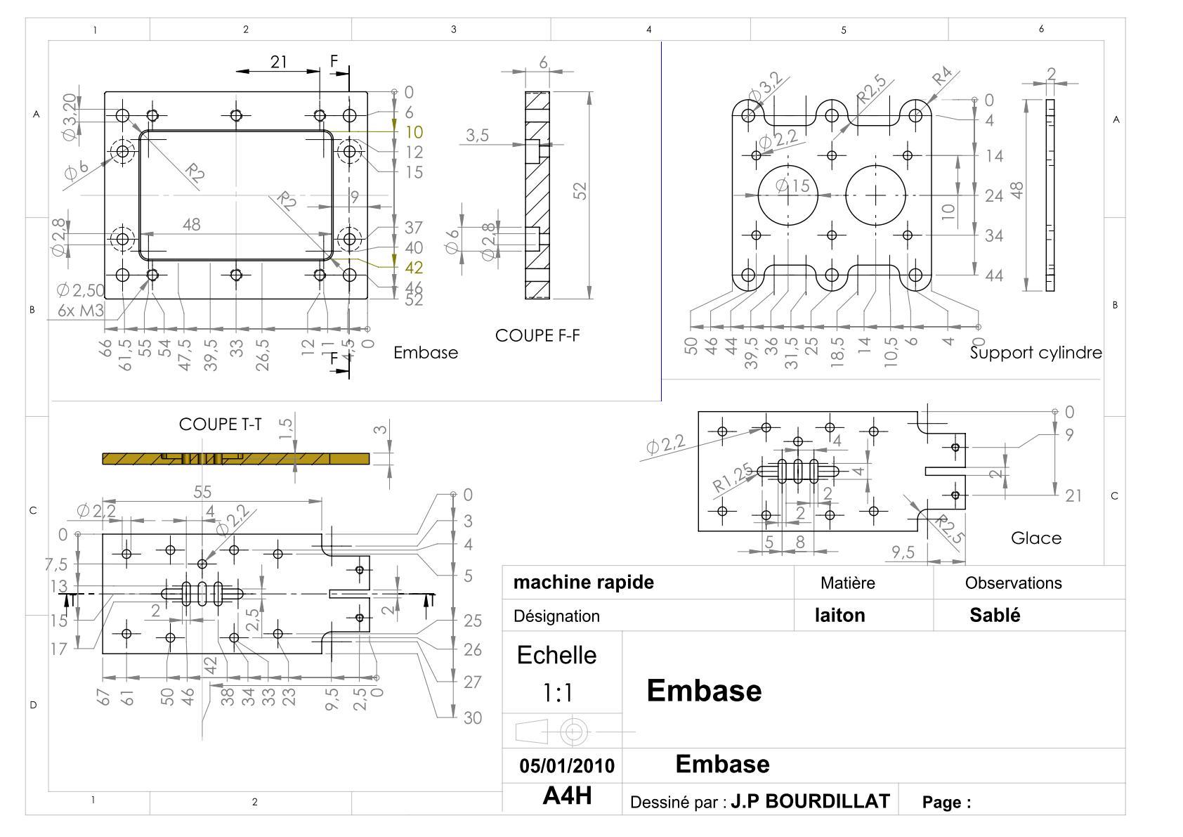 Plan d'un moteur rapide Uw1110