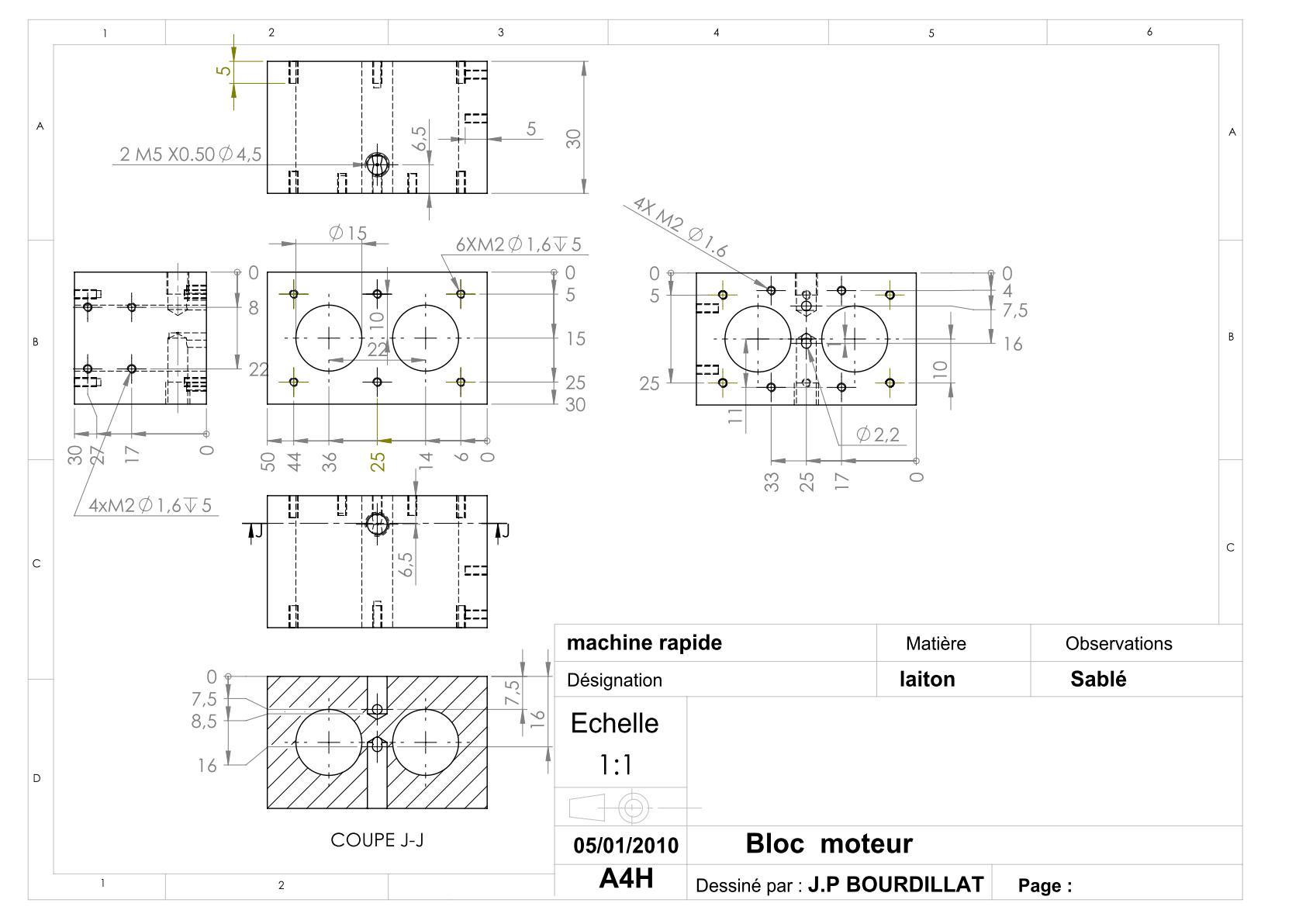 Plan d'un moteur rapide Uw1210