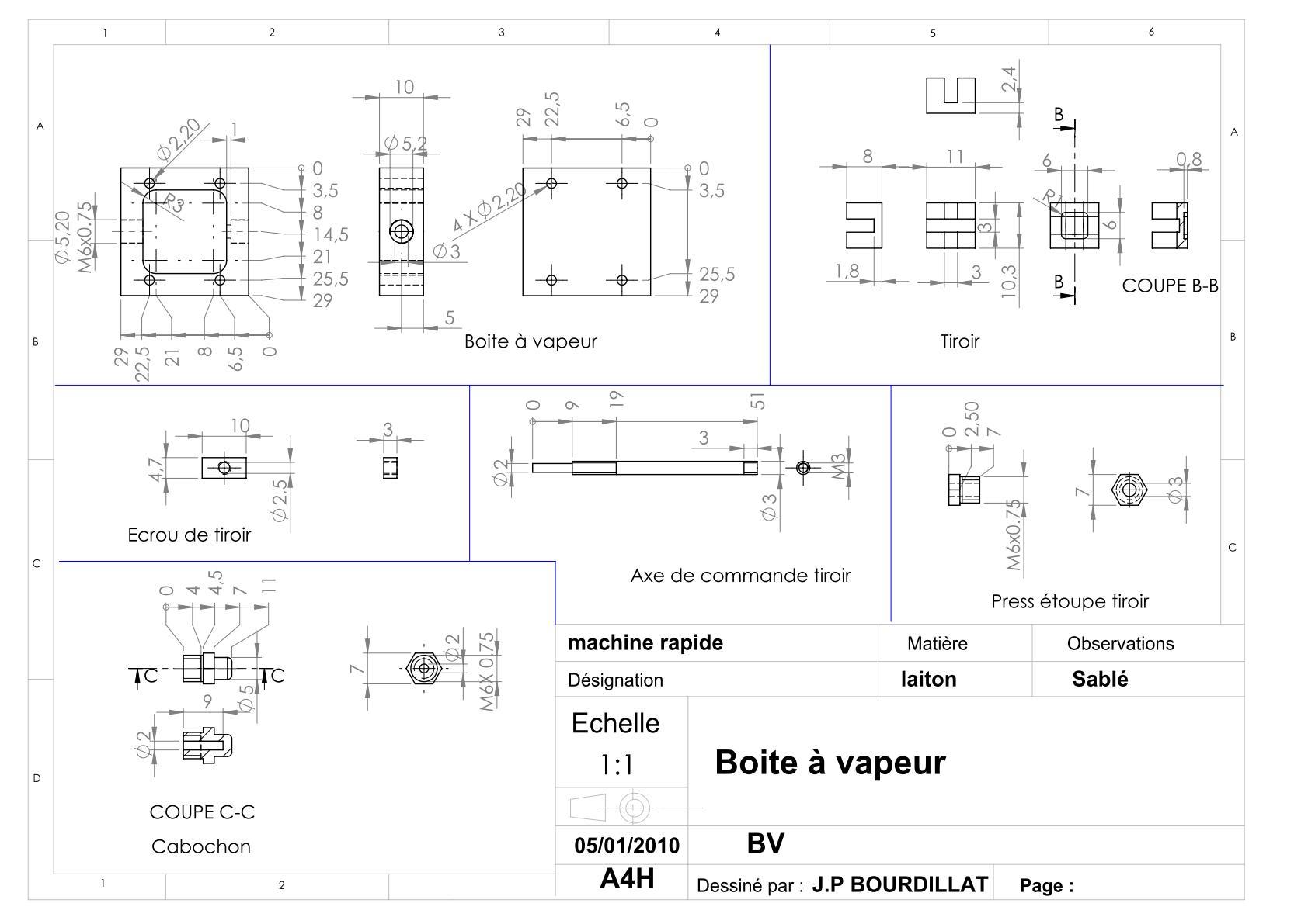 Plan d'un moteur rapide Uw1310