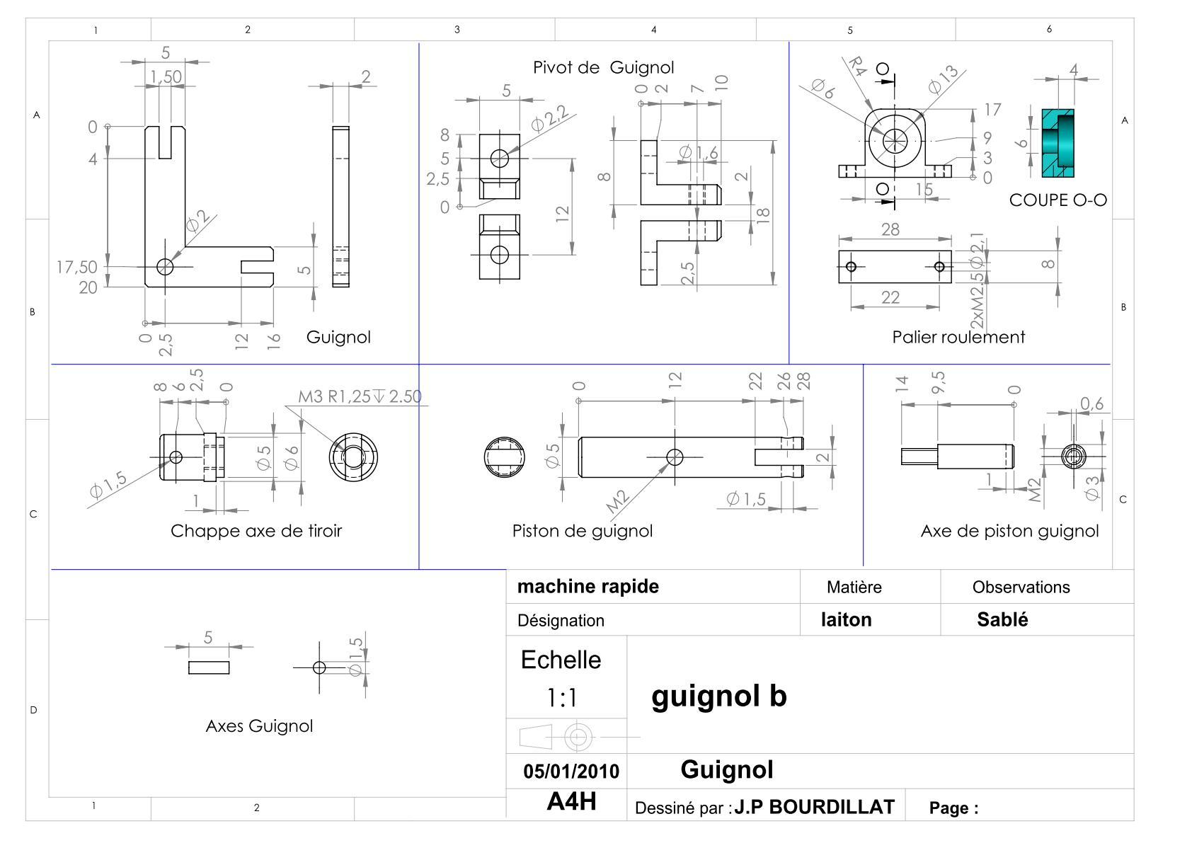 Plan d'un moteur rapide Uw1410