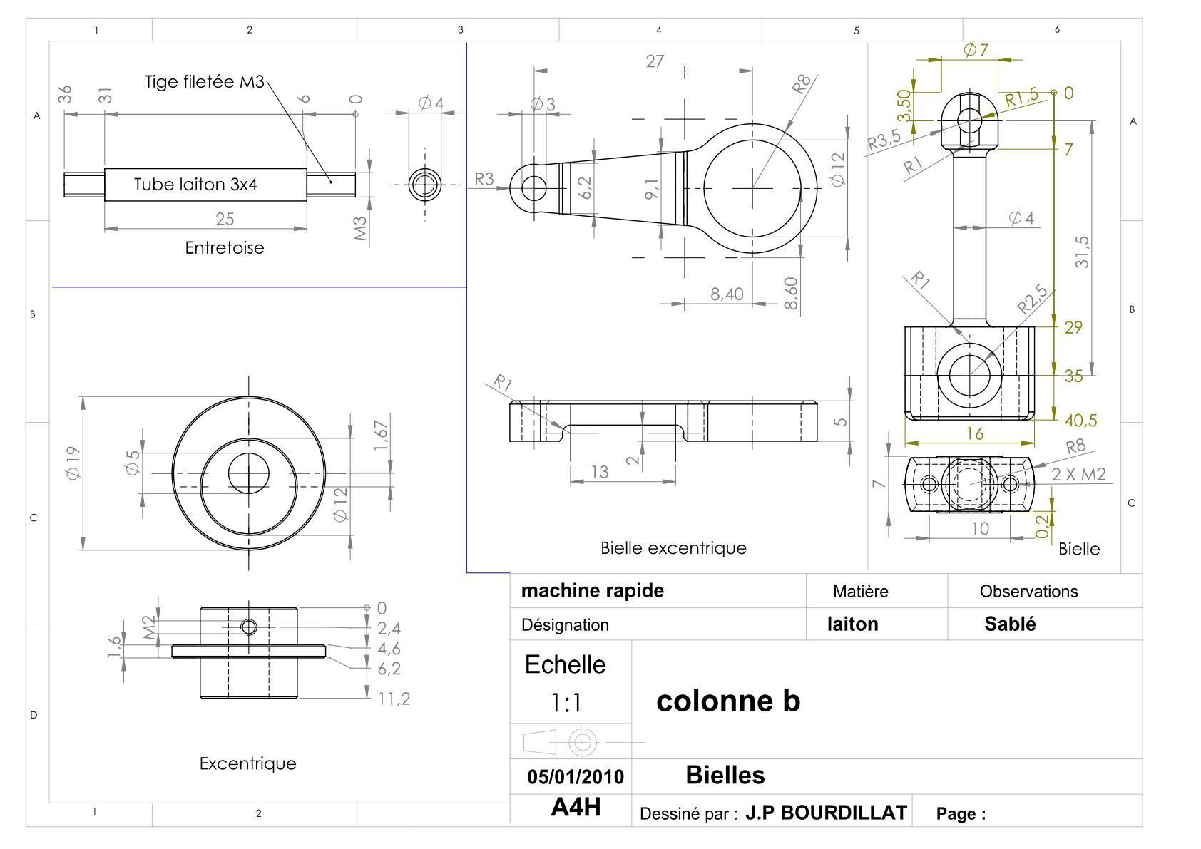 Plan d'un moteur rapide Uw1510
