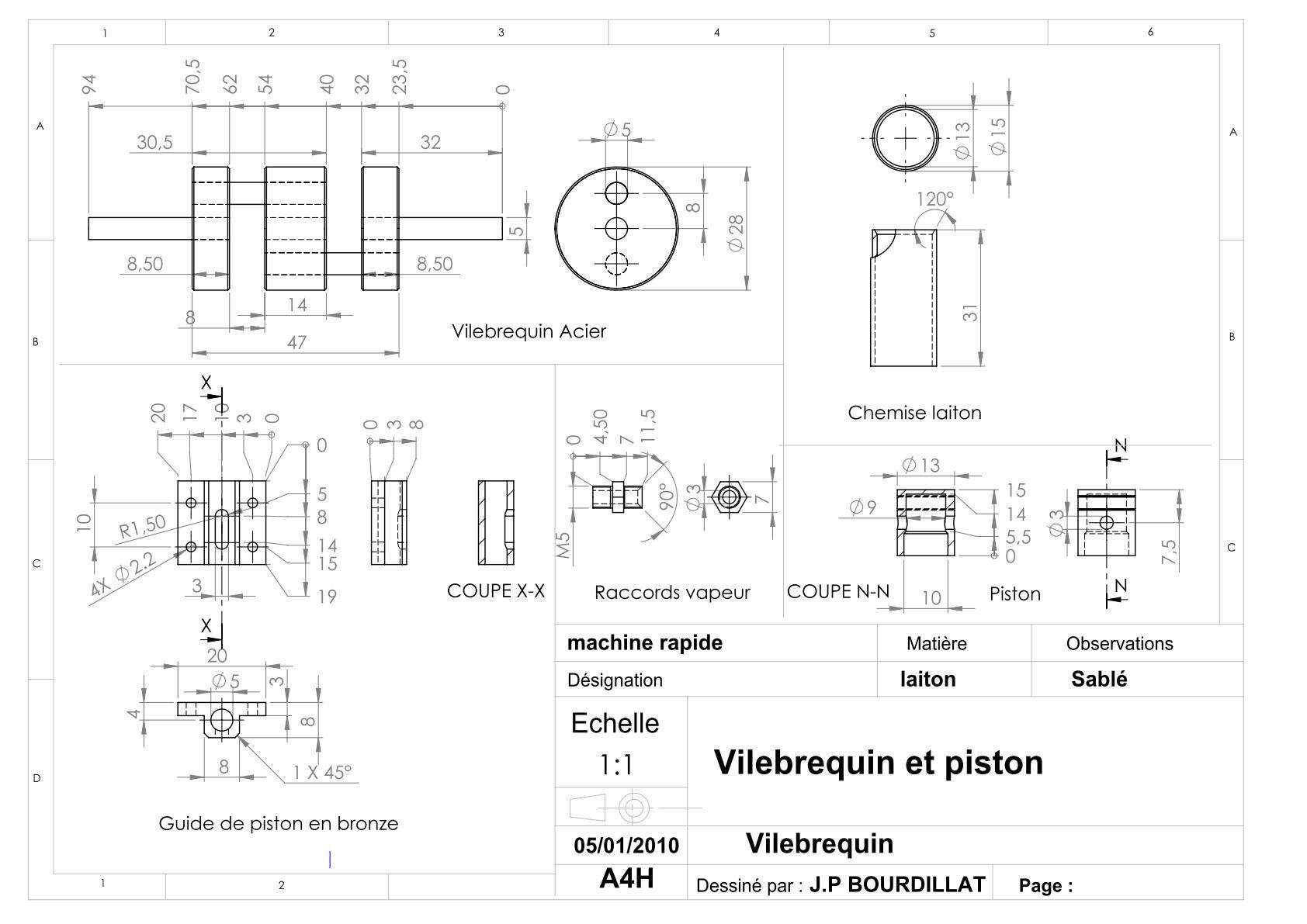 Plan d'un moteur rapide Uw1610