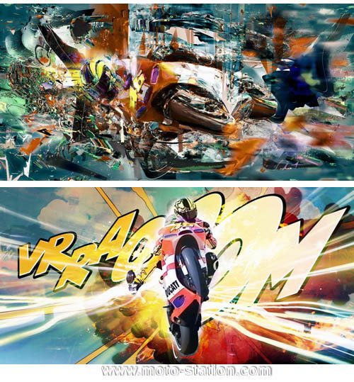 Collection d'art Valentino Rossi Tablea10