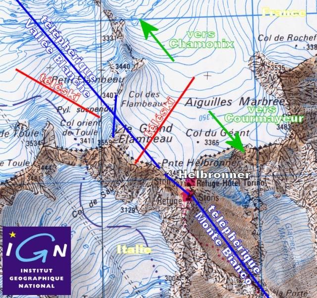 Ancien ski d'été sur le Glacier du Géant Plan-s10