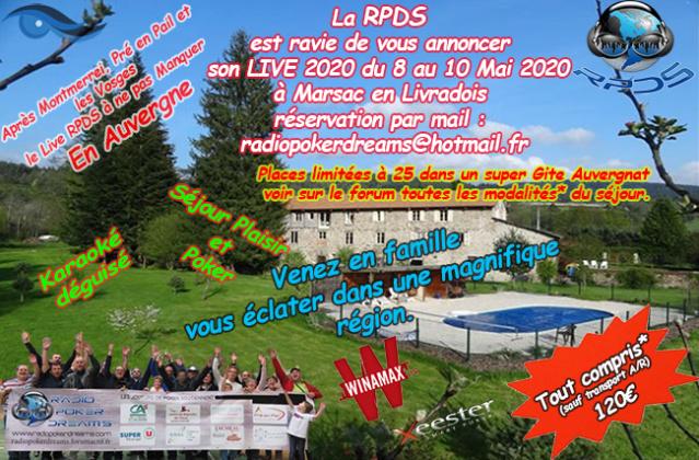 LIVE RPDS CPDS du 8 au 10 MAI 2020 en Auvergne Affich10