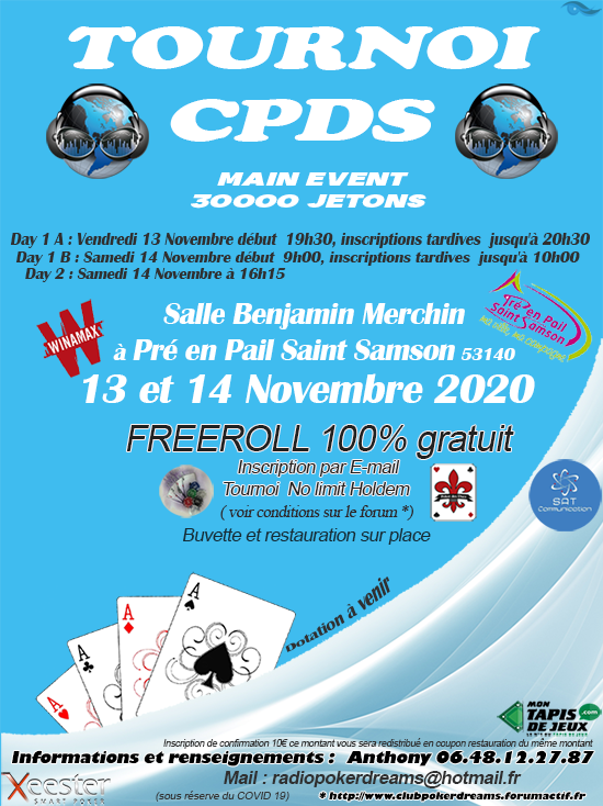 Tournoi Freeroll Pré en Pail   13 / 14 Novembre 2020  Affich12