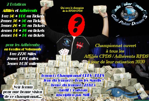 Championnat RPDS-CPDS 2020  Tourno14