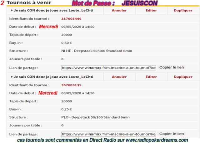 Tournoi pour Confinement Tourno22