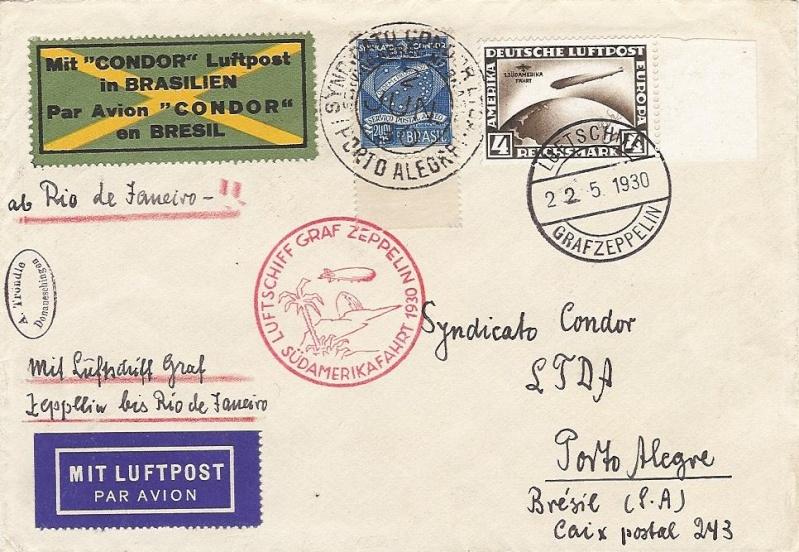 Condor-Flugpostmarken auf Belegen der Südamerikafahrt 1930 57_cc_10